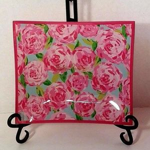 LILLY PULITZER Glass Catchall Tray